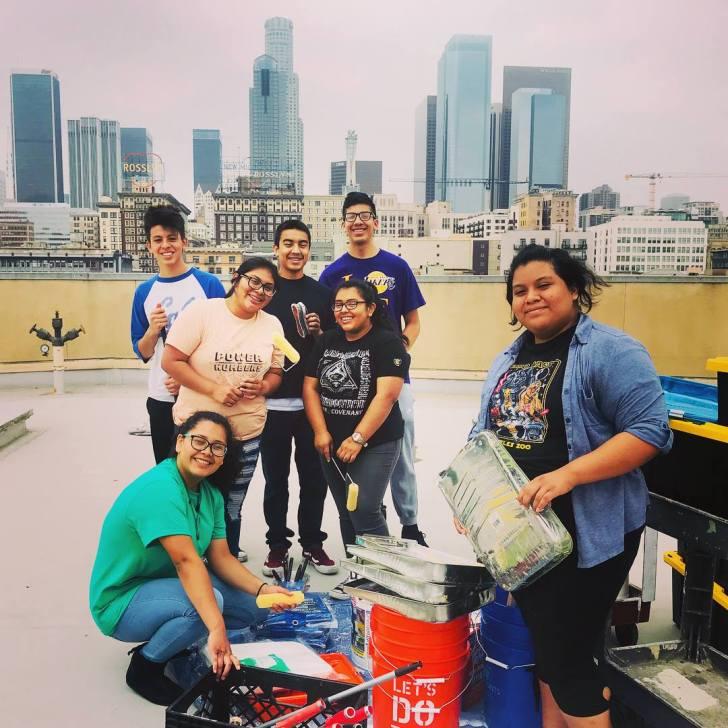 Volunteers at LA Mission