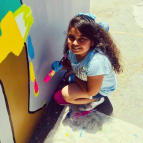 Painting day at Saturn St Elementary School
