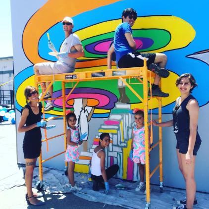 Painting at Saturn Street Elementary School